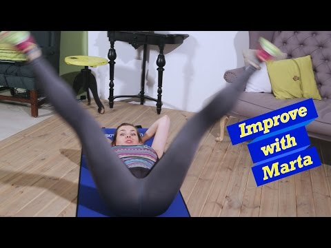 Spreading legs apart, lying on the back - Improve with Marta