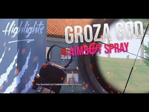 AIMBOT SPRAYS WITH GROZA INSANE RUSH GAMEPLAY || PUBG MOBILE HIGHLIGHTS