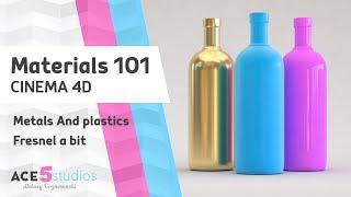 C4D Materials 101 - Metals and Plastics