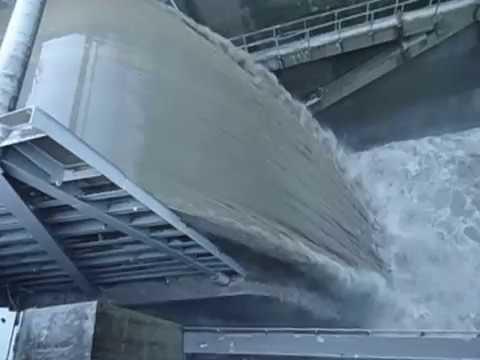 water fall in kali gandaki hydropower project
