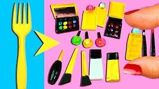 💄💋 How to Make 10 Miniature Makeup Items / Cosmetics