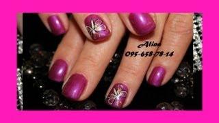 РИСУНКИ НА НОГТЯХ - nail art tutorial(Как нарисовать бабочку на ногтях - How to draw a butterfly on your nails В этом видео у вам покажу и расскажу на легко и быстр..., 2013-05-16T21:00:28.000Z)