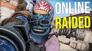 ONLINE ROCKET RAIDED BY SALTY CLAN NEIGHBOURS FOR REVENGE - Rust Survival Gameplay (S10-E3)