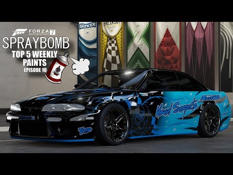 Forza 7 - Spraybomb EP10 - Top 5 Weekly Paints