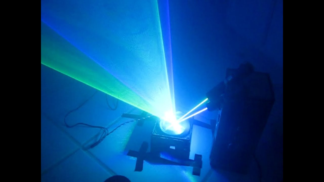 how to make a laser light show