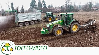 🚜 John Deere 8270R + 7720 🇺🇸 💪| Lemken | Ravizza | Aratura e spandimento digestato | plowing