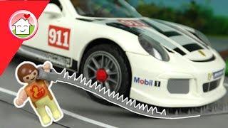 Playmobil Polizei Film deutsch - Die Radarfalle - Kinderfilm von Familie Hauser - Porsche 911