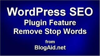 WordPress SEO Plugin Remove Stop Words