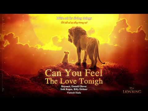 [Vietsub] The Lion King 2019 - Can You Feel The Love Tonight OST (lyrics video) | Hadu Official