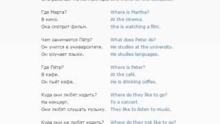 Урок английского языка 13 (Виды деятельности)
