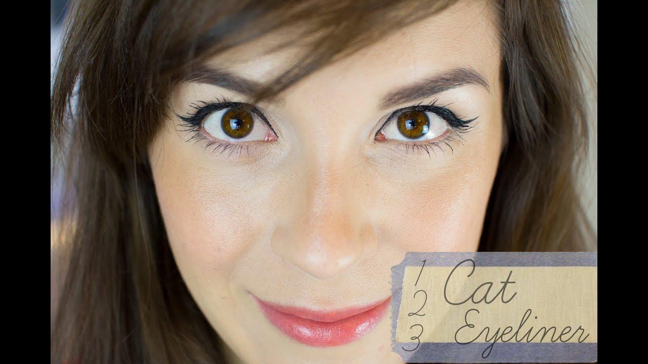 C mo hacer la raya del ojo 39 cat eye style 39 cat eyeliner - Como pintarse bien ...