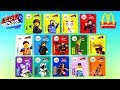 2019 McDONALD'S LEGO MOVIE 2 HAPPY MEAL TOYS CHARACTERS CARDS NAMES FULL WORLD SET 14 KIDS UNBOXING