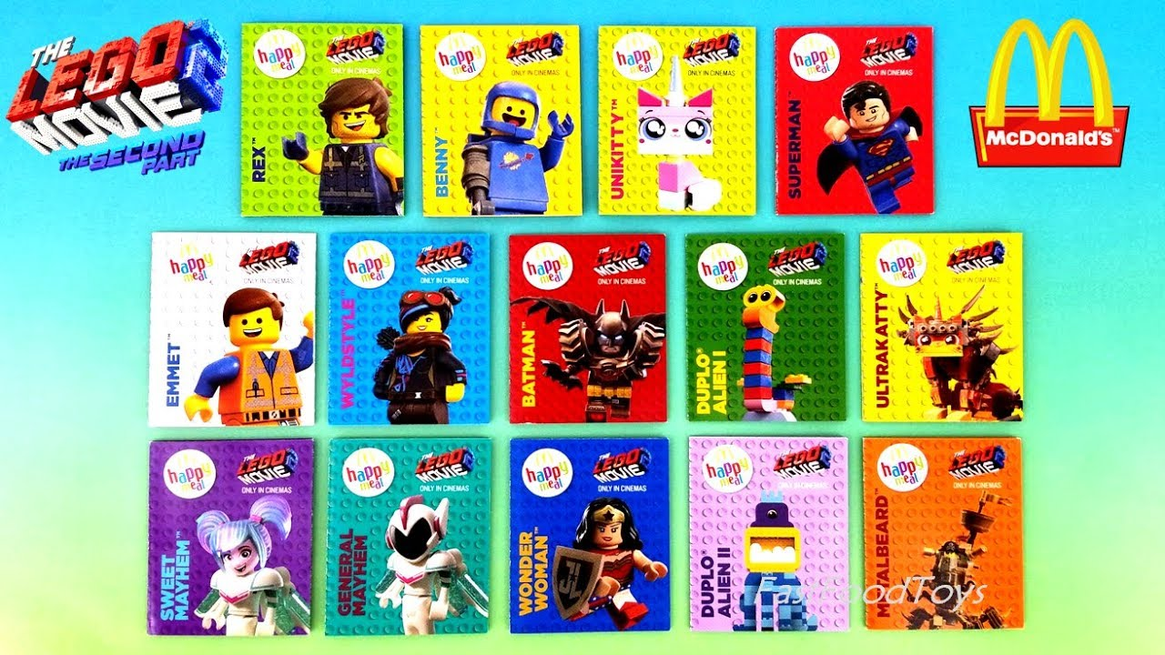 2019 Mcdonald S Lego Movie 2 Happy Meal Toys Characters Cards Names