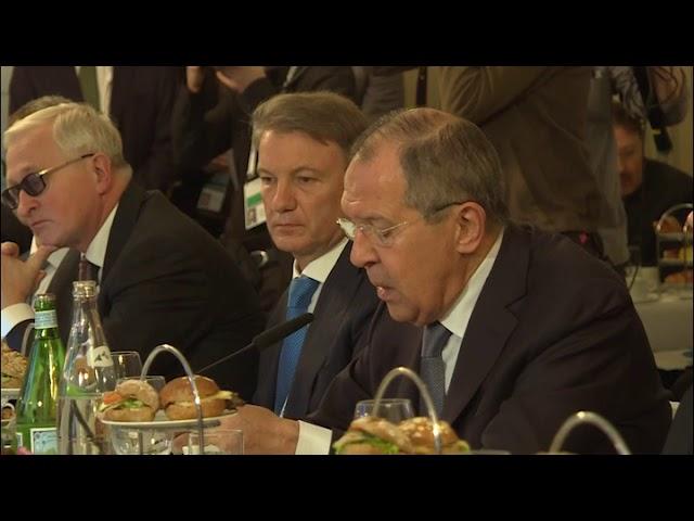 Рабочий завтрак с представителями бизнеса России и Германии