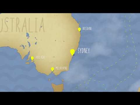Flight Maps Video Tutorial - How to Create an Airplane Animation on a Map