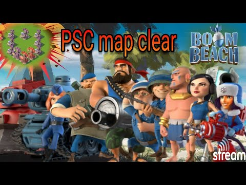 PSC Map Clear|Boom Beach|CRYSTALS!