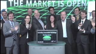 Canadian Innovation Exchange opens Toronto Stock Exchange, November 16, 2012.