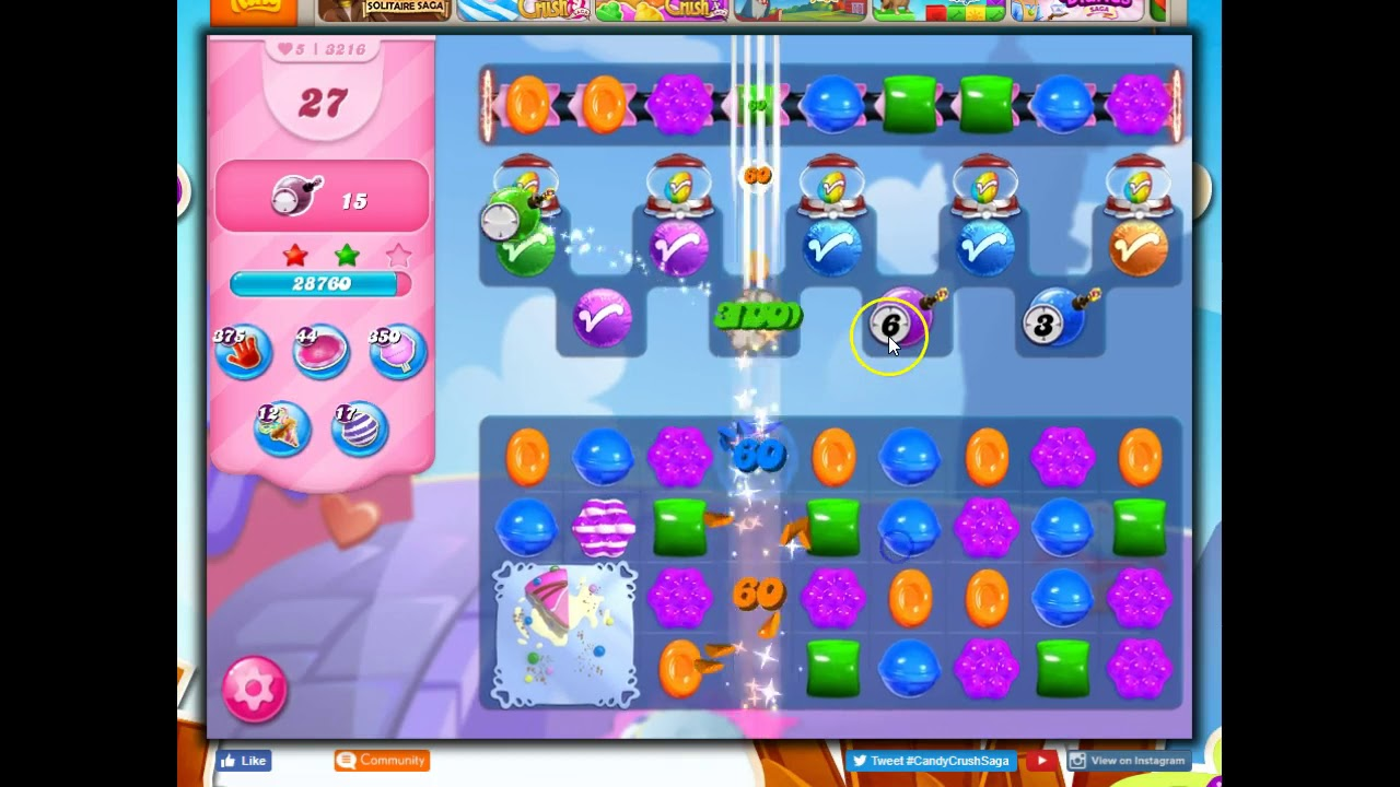 Download Candy Crush Level 3216 Talkthrough, 55 Moves 0 Boosters