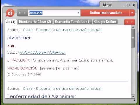 Definición de alzheimer