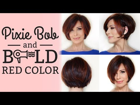 Pixie Bob Blowout Style Options Bold Red Color