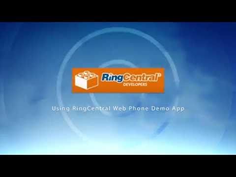 RingCentral  - How to Use the (WebRTC) Web Phone Demo App