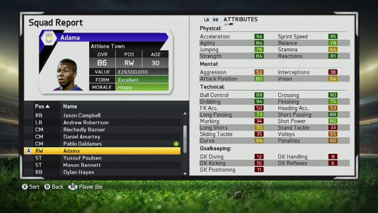 Fifa 15 Adama Traore Player Growth Test Youtube