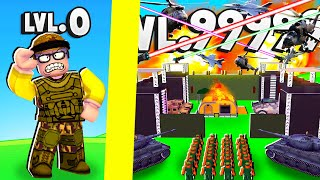 BUILDING the STRONGEST ARMY BASE in Roblox Army Tycoon