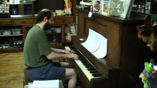 "Angry Birds Theme sight-read ""silent movie"" style by Tom Brier, piano"