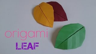 How to make an origami leaf
