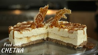 How To Make Sesame Brittle And Salted Caramel Cheesecake - Food With Chetna