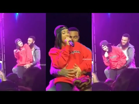 Queen Naija Singing Butterflies With Clarence On Stage