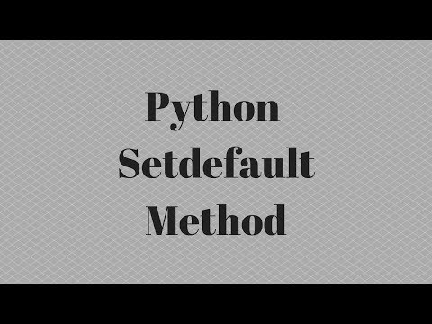 Using The SetDefault Method In Python For Handling Lists Within Dicts
