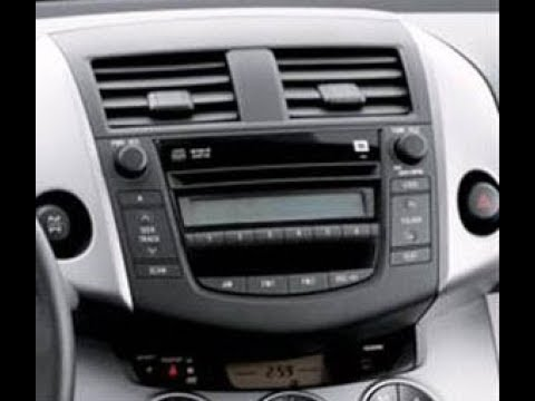 How To Remove Radio Cd Player From Toyota Rav4 2007 For Repair