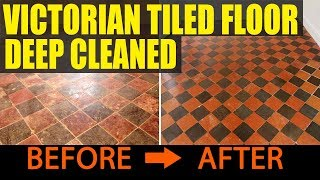 Victorian Tiled Floor Deep Cleaned in Hale, Cheshire