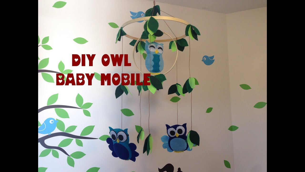 diy owl baby mobile for less than 10 youtube. Black Bedroom Furniture Sets. Home Design Ideas