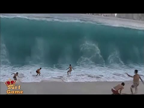 People Slammed By Massive Waves