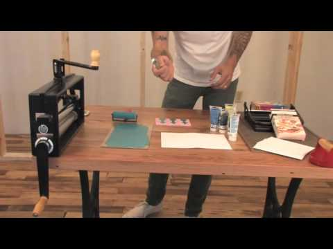 How To Remove Ink From Leather >> Urban Outfitters DIY demonstration — block printing - YouTube