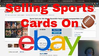 How to: Make Money on Ebay Selling Sports Cards