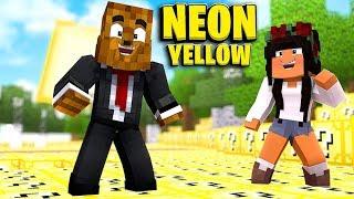 *Brand New* Neon Yellow Lucky Block Money Hunt - Minecraft Modded Minigame | JeromeASF