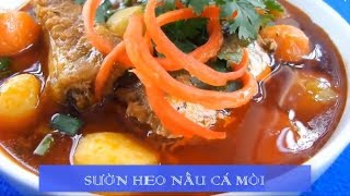 Sườn Heo Nấu Cá Mòi ăn với bánh mì hết chê ► Ẩm thực ba miền