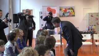 Dag van de Duurzaamheid 2012 - Voorleesactie met oa prinses Laurentien op basisschool de Wilgenstam