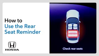 homepage tile video photo for How to Use the Rear Seat Reminder