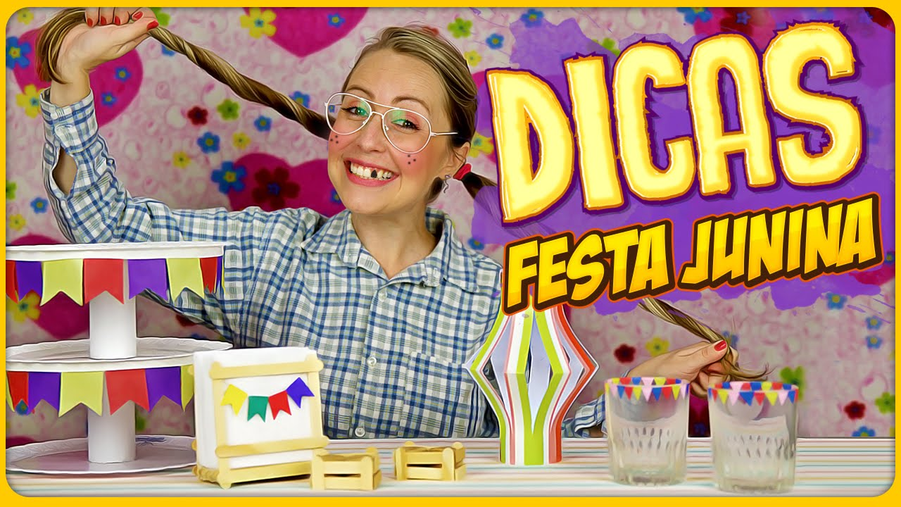 Dicas de Decoraç u00e3o para Festa Junina DiY YouTube -> Decoração Tnt Festa Junina