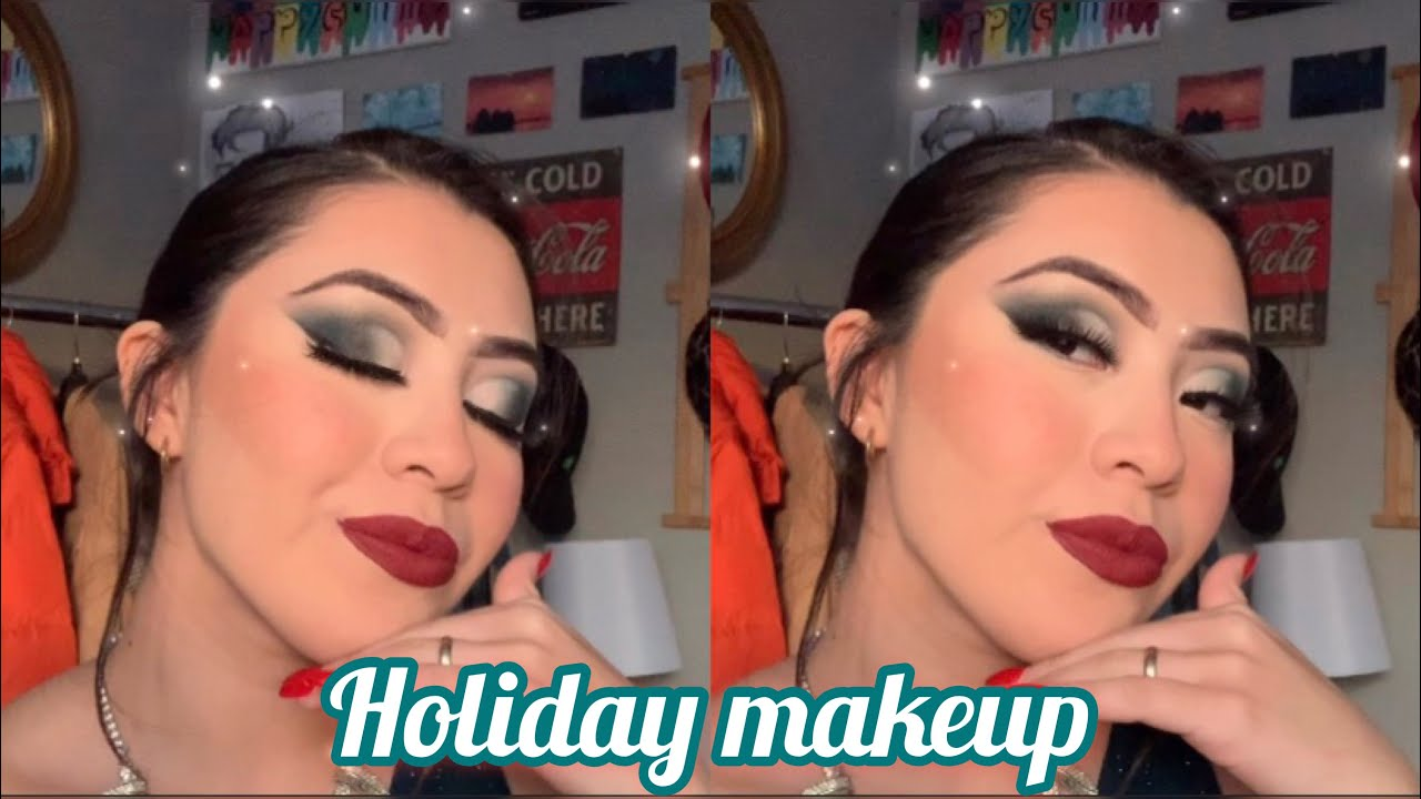 Holiday makeup 💫GET READY WITH ME 🍾  TIHARE ANGELES - YouTube
