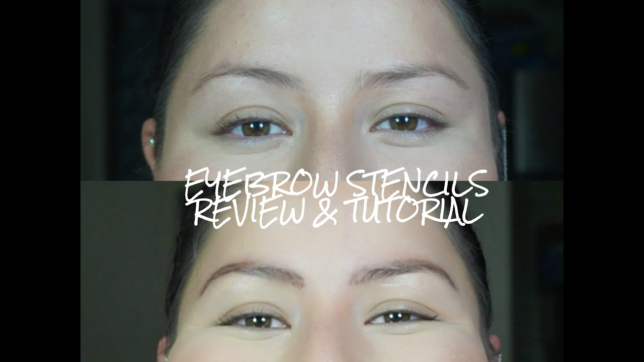 Eyebrow Stencils Review Tutorial Youtube