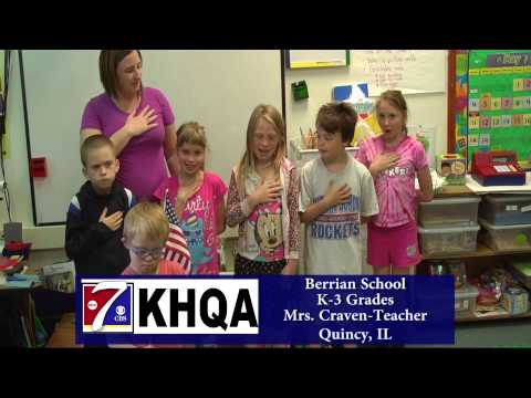 Pledge of Allegiance by Mrs. Craven's class at Berrian School in Quincy, IL