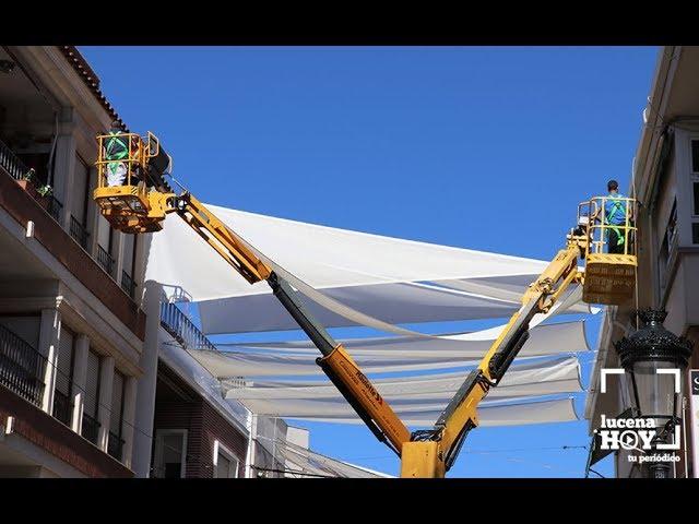 VÍDEOS: Comienza la retirada de los todos instalados en el centro urbano