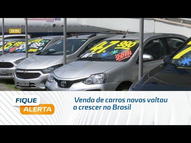 Venda de carros novos voltou a crescer no Brasil