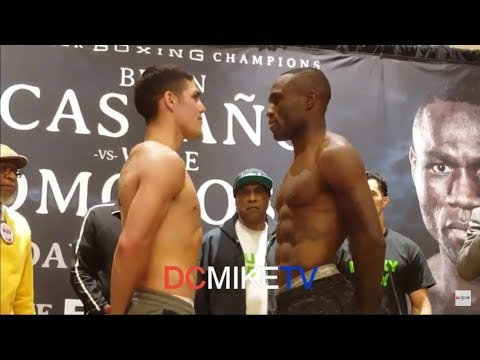 BRIAN CASTANO WEIGHS IN AND FACEOFF WITH WALE OMOTOSO FOR TOMORROW NIGHT