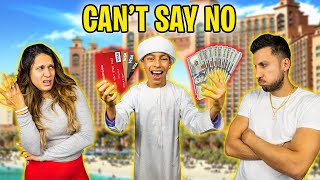 CAN'T Say NO to our SON for 24 Hours! **IN DUBAI** | The Royalty Family